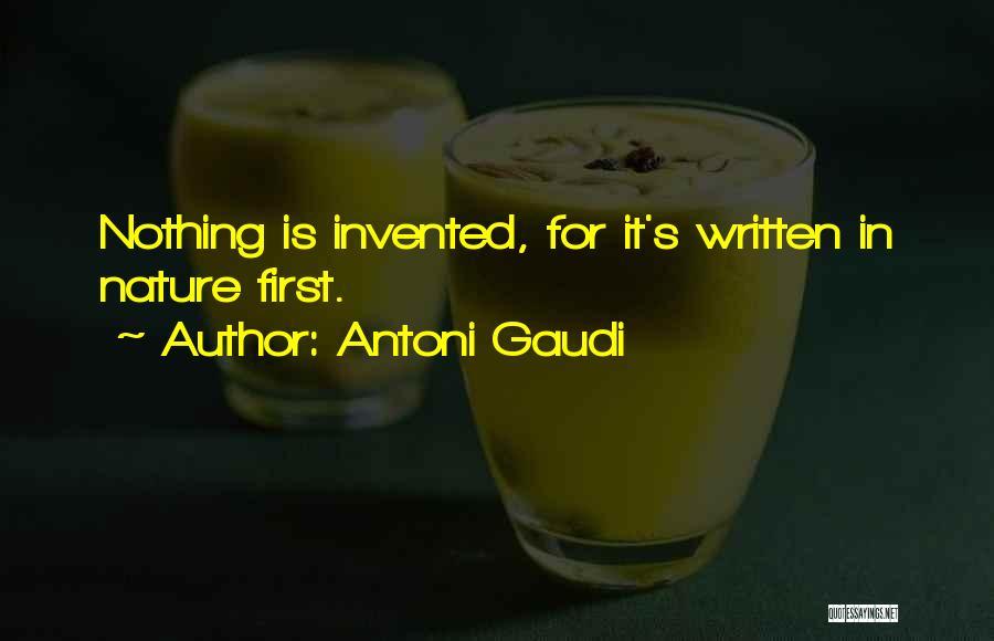 Best Gaudi Quotes By Antoni Gaudi