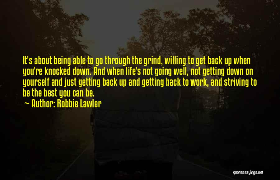 Best Get Back Up Quotes By Robbie Lawler