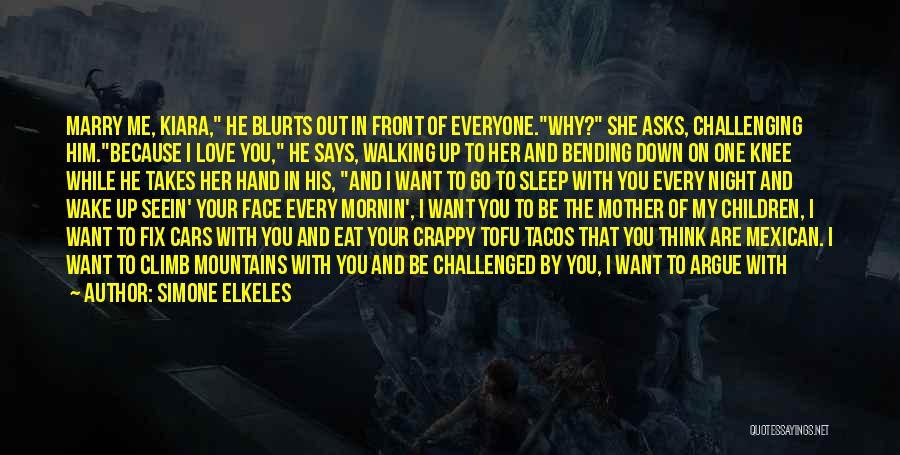 Best Go To Sleep Quotes By Simone Elkeles