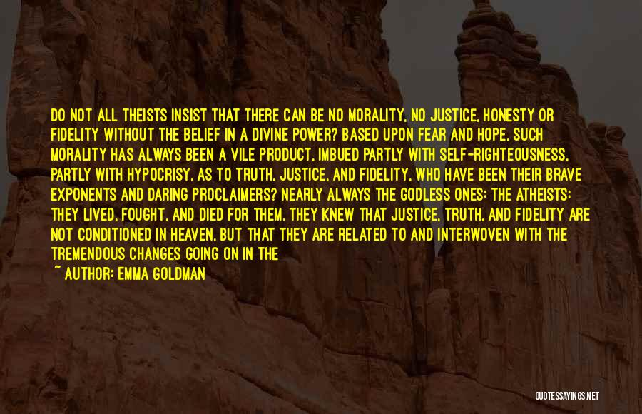 Best Godless Quotes By Emma Goldman