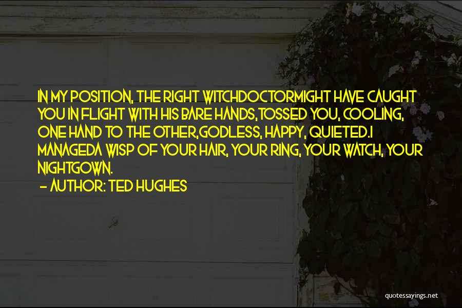 Best Godless Quotes By Ted Hughes