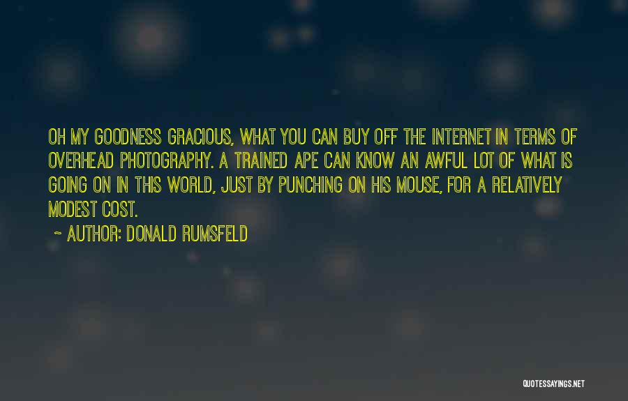 Best Goodness Gracious Me Quotes By Donald Rumsfeld