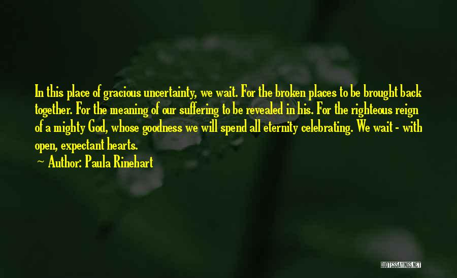 Best Goodness Gracious Me Quotes By Paula Rinehart