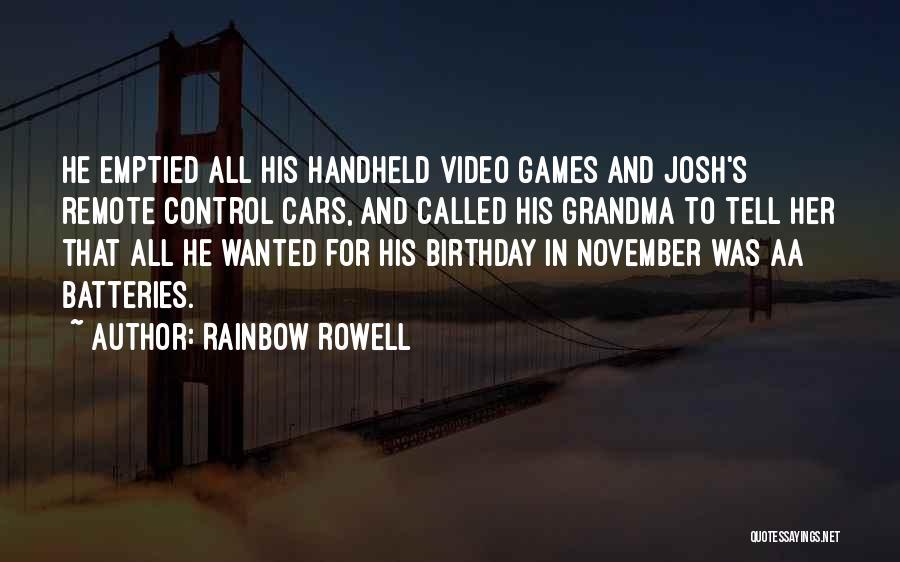 Best Grandma Birthday Quotes By Rainbow Rowell