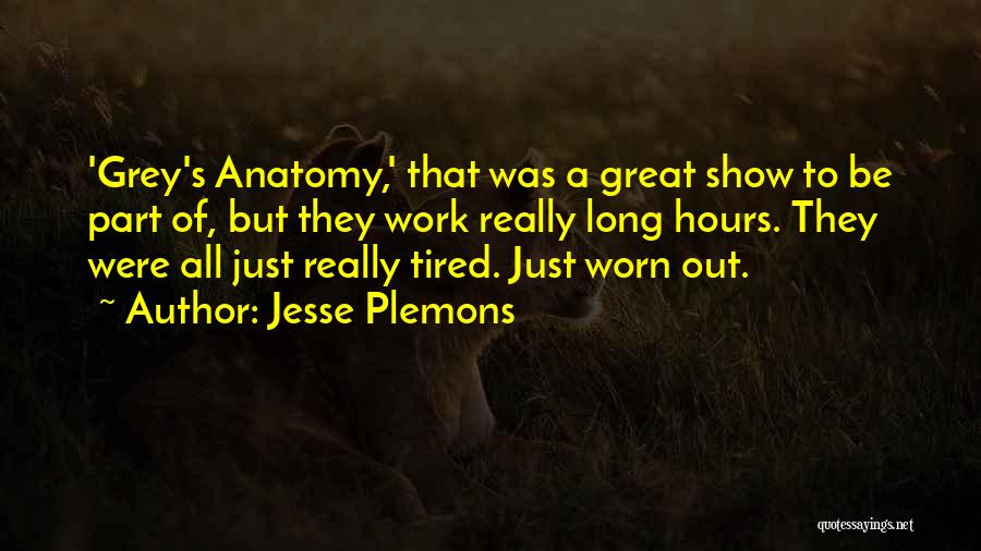 Best Grey's Anatomy Quotes By Jesse Plemons