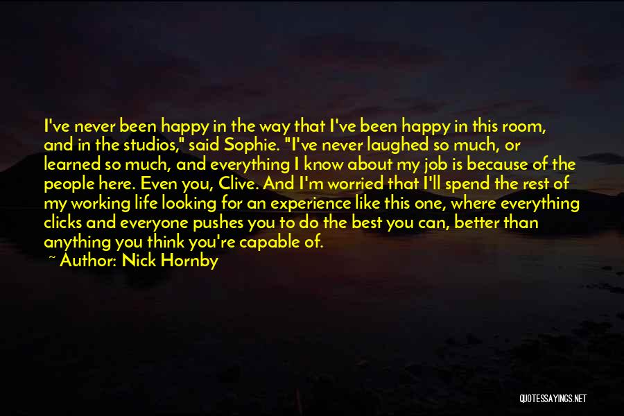 Best Happy Life Quotes By Nick Hornby