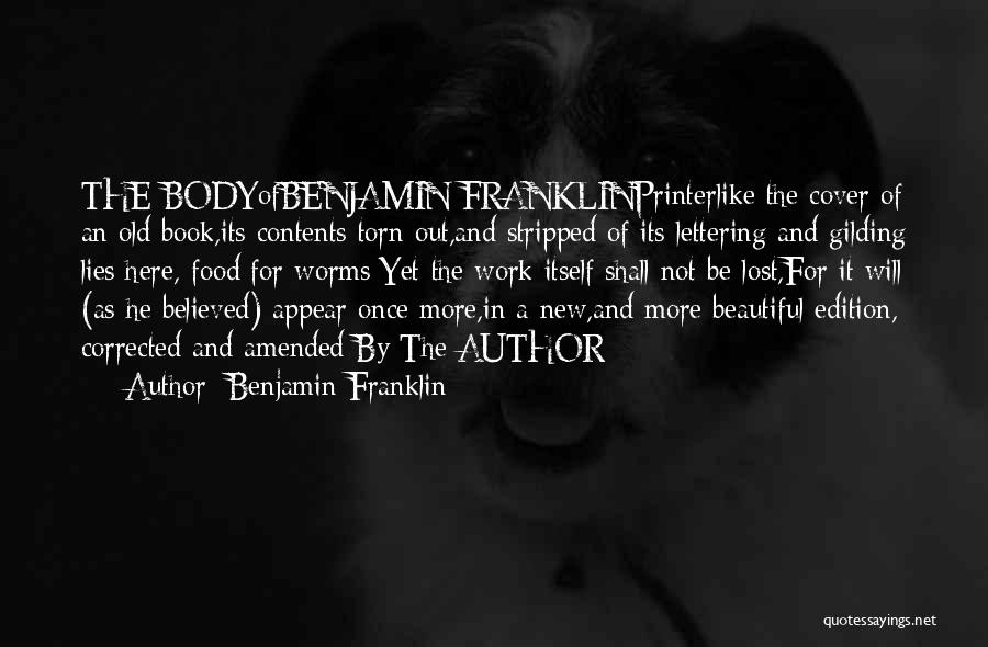 Best Headstone Quotes By Benjamin Franklin