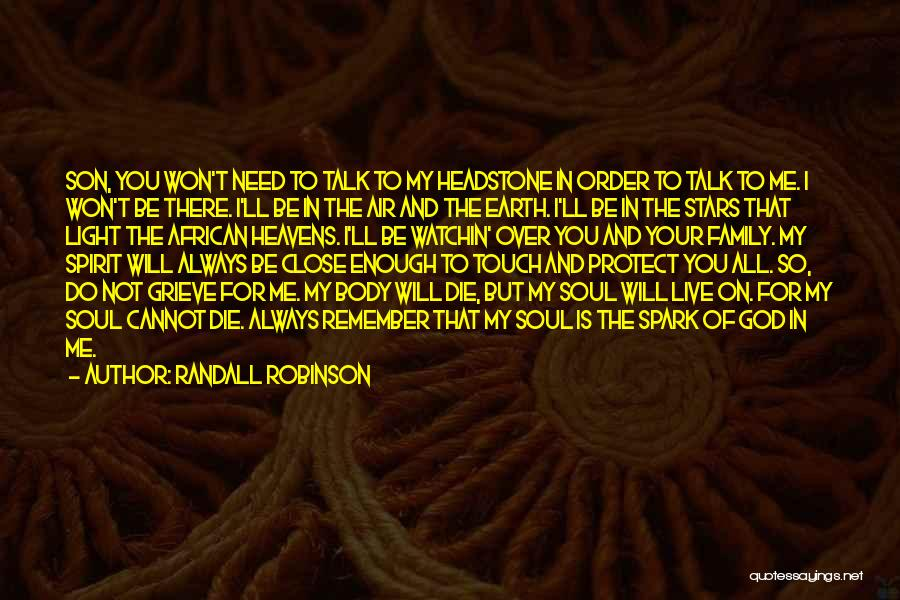 Best Headstone Quotes By Randall Robinson