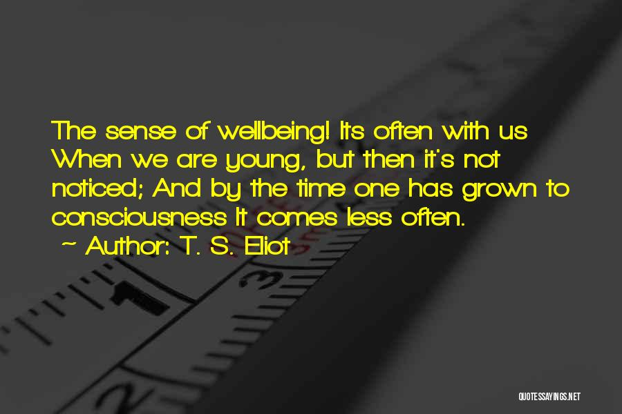 Best Health And Wellbeing Quotes By T. S. Eliot