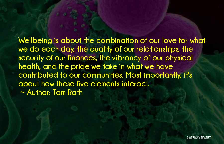 Best Health And Wellbeing Quotes By Tom Rath