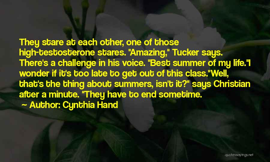 Best High Life Quotes By Cynthia Hand