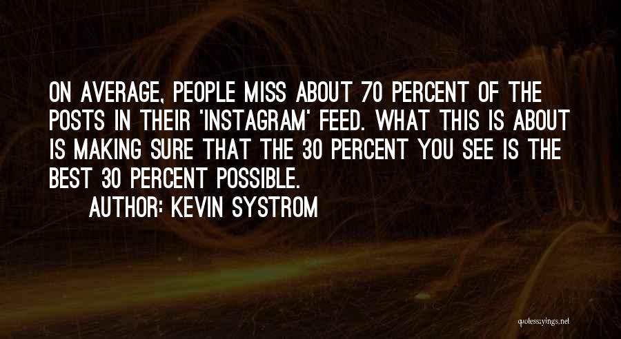 Best Instagram Quotes By Kevin Systrom