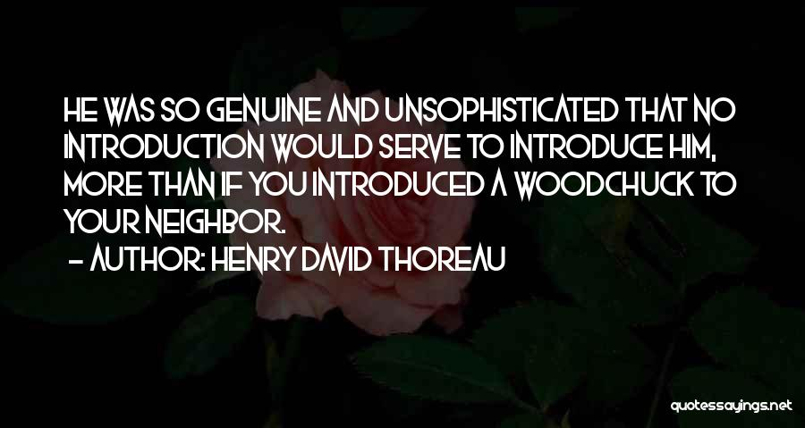 Best Introduce Quotes By Henry David Thoreau