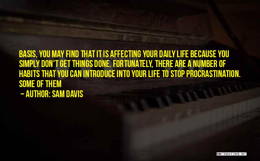 Best Introduce Quotes By Sam Davis