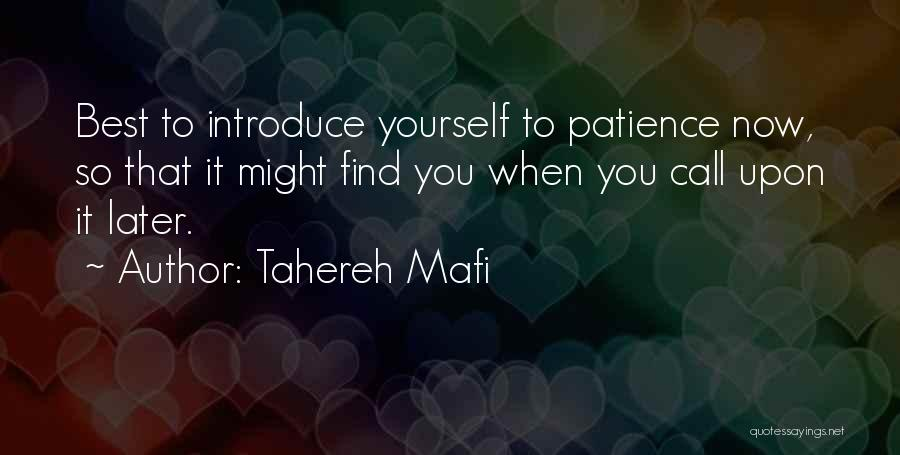 Best Introduce Quotes By Tahereh Mafi