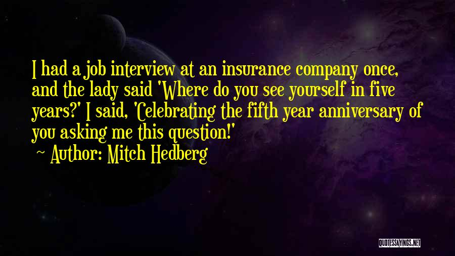 Best Job Anniversary Quotes By Mitch Hedberg