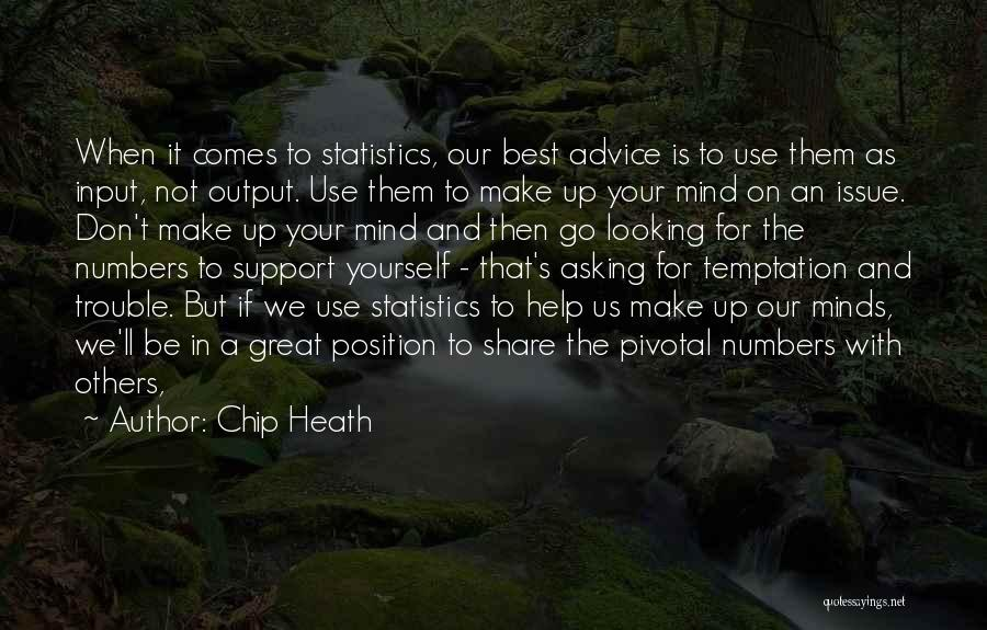 Best Looking Quotes By Chip Heath
