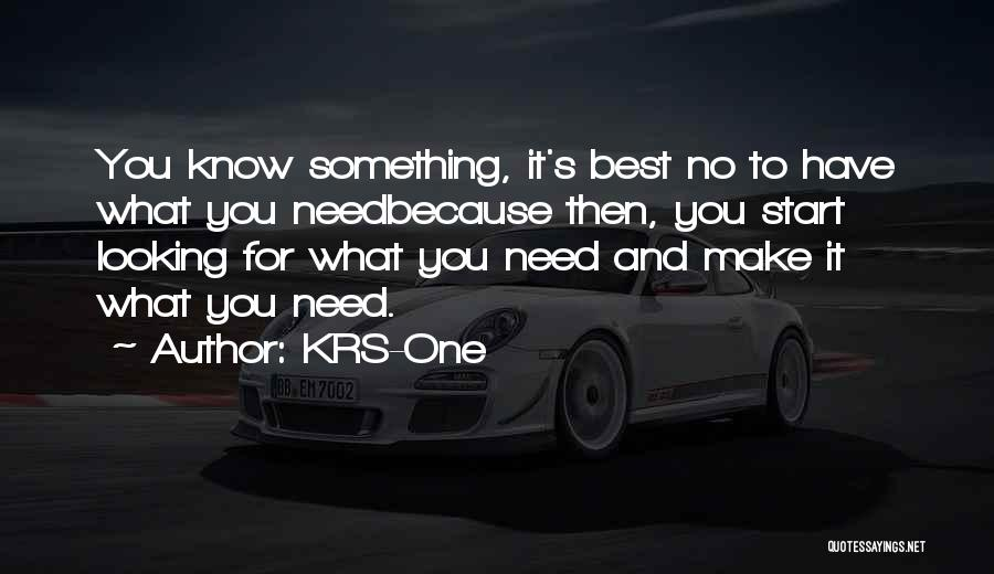 Best Looking Quotes By KRS-One
