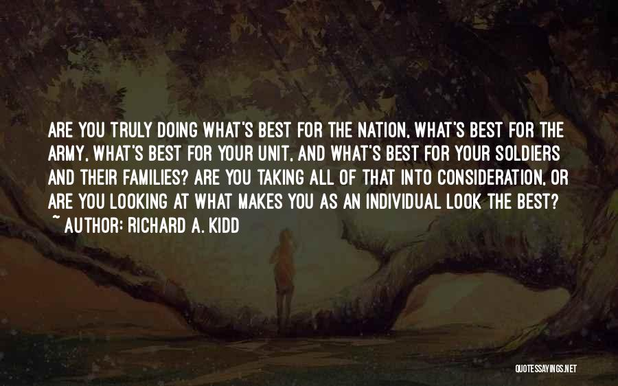 Best Looking Quotes By Richard A. Kidd