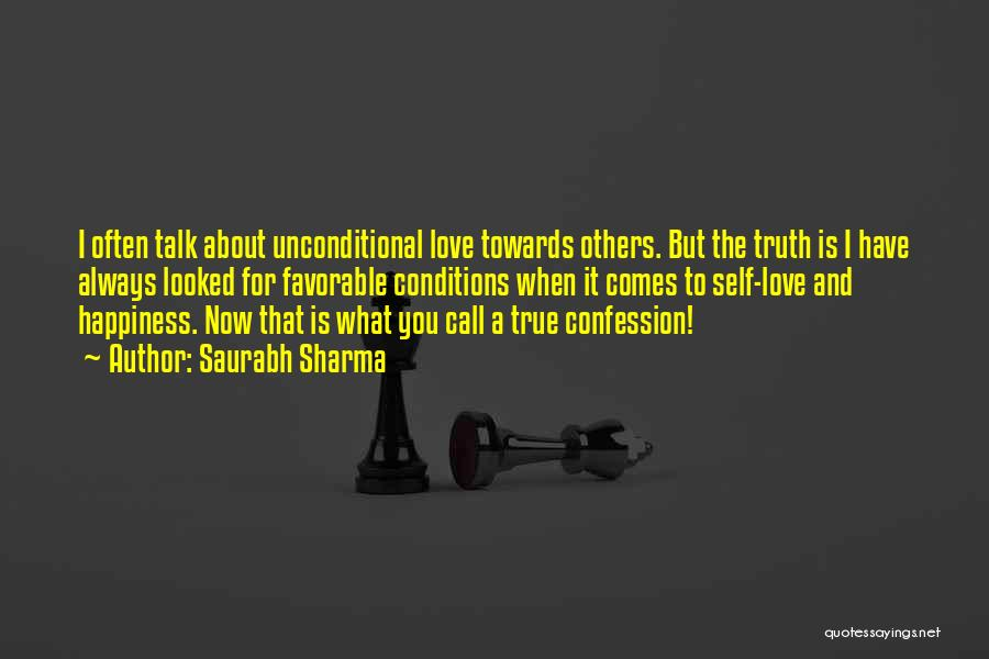 Best Love Confession Quotes By Saurabh Sharma