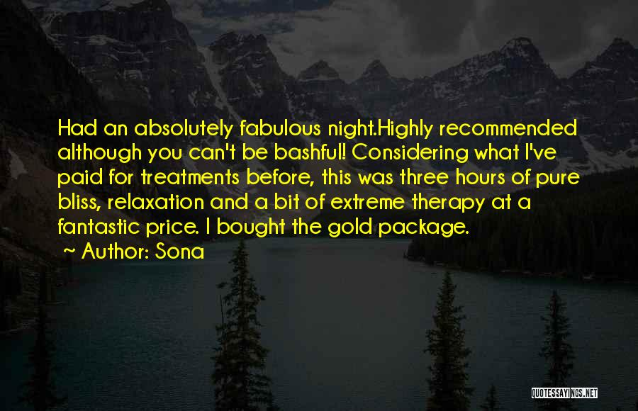 Best Massage Therapy Quotes By Sona