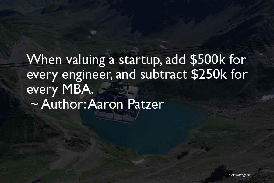Best Mba Quotes By Aaron Patzer