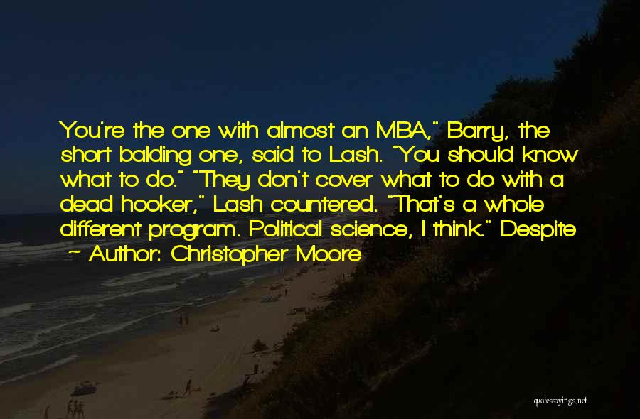 Best Mba Quotes By Christopher Moore