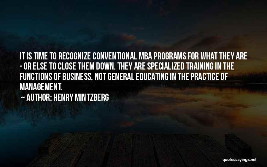 Best Mba Quotes By Henry Mintzberg