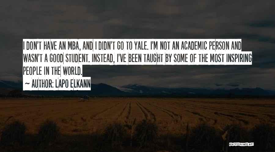 Best Mba Quotes By Lapo Elkann