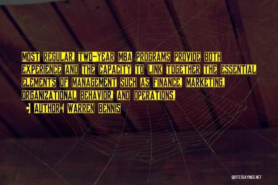 Best Mba Quotes By Warren Bennis