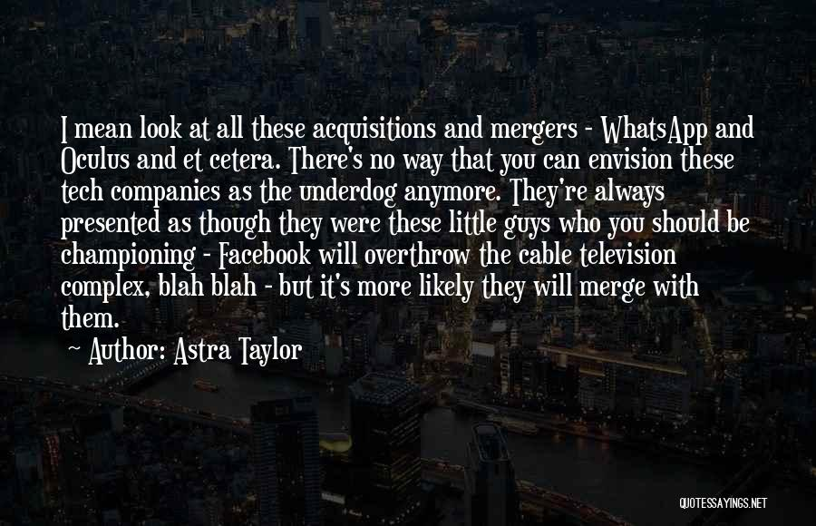 Best Mergers And Acquisitions Quotes By Astra Taylor
