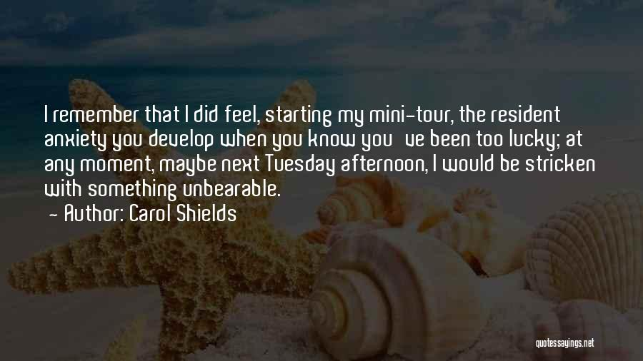 Best Mini Quotes By Carol Shields