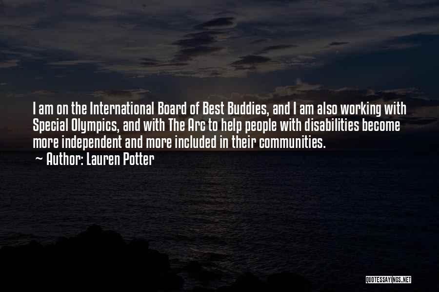 Best Olympics Quotes By Lauren Potter