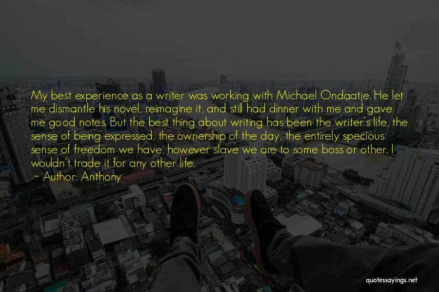 Best Ondaatje Quotes By Anthony