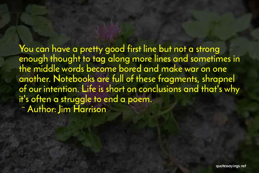 Best One Line Life Quotes By Jim Harrison