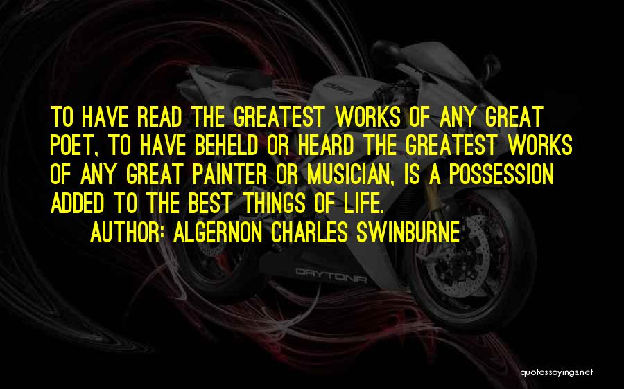 Best Painter Quotes By Algernon Charles Swinburne