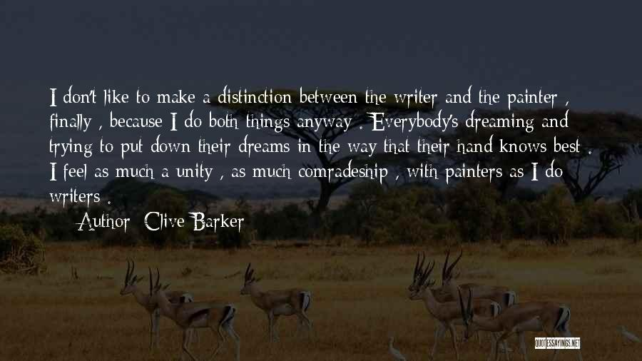 Best Painter Quotes By Clive Barker