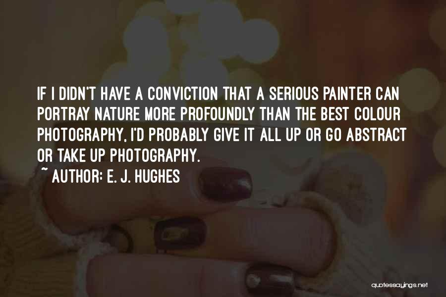 Best Painter Quotes By E. J. Hughes