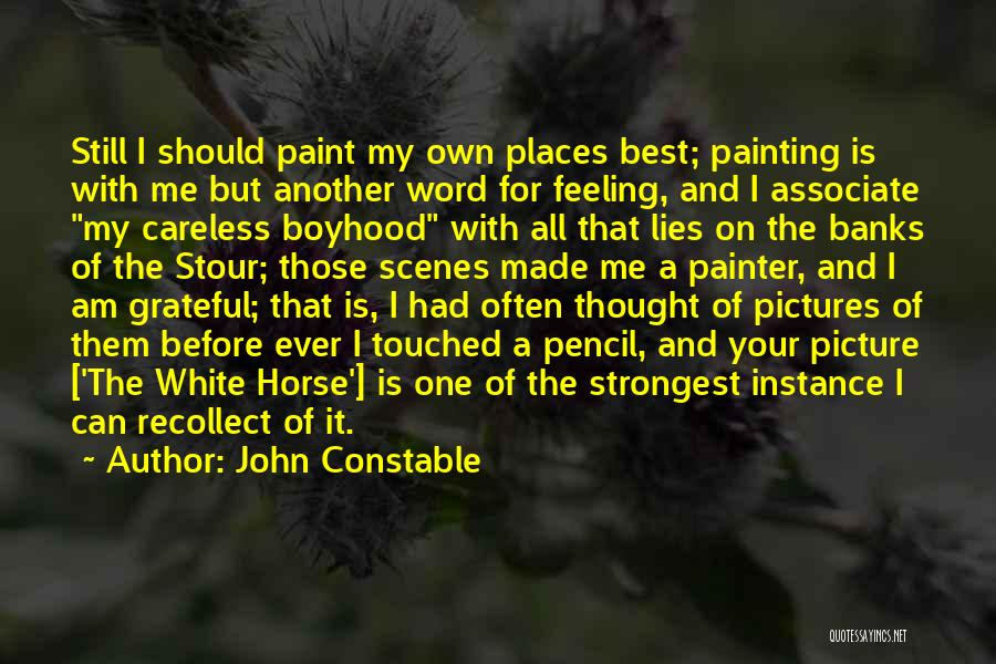 Best Painter Quotes By John Constable