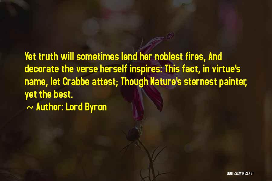 Best Painter Quotes By Lord Byron