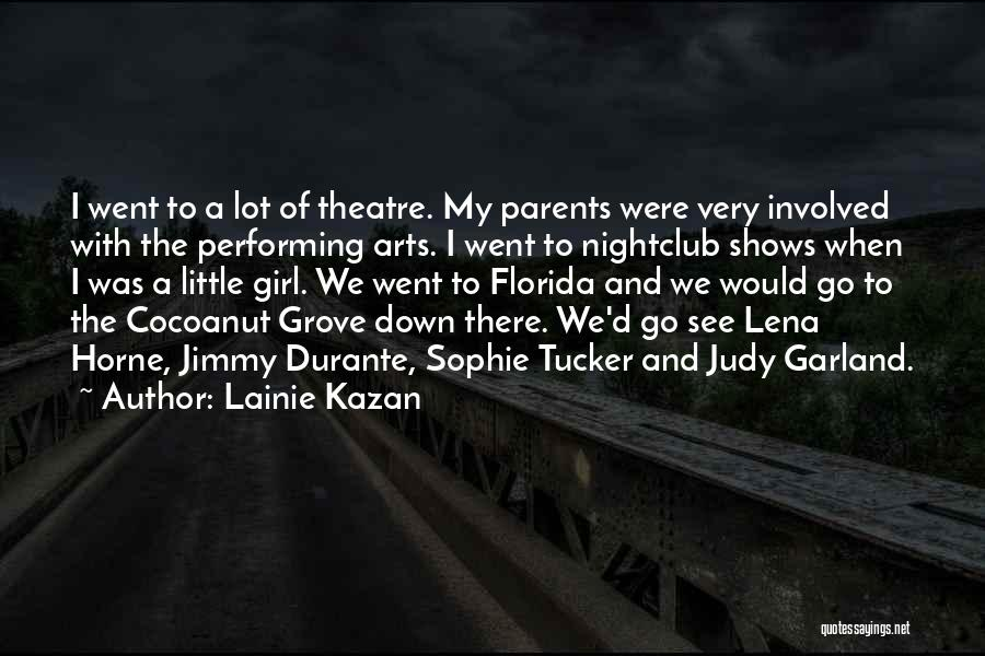 Best Performing Arts Quotes By Lainie Kazan