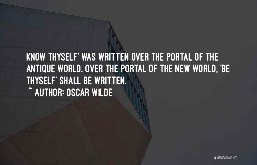 Best Portal 1 Quotes By Oscar Wilde