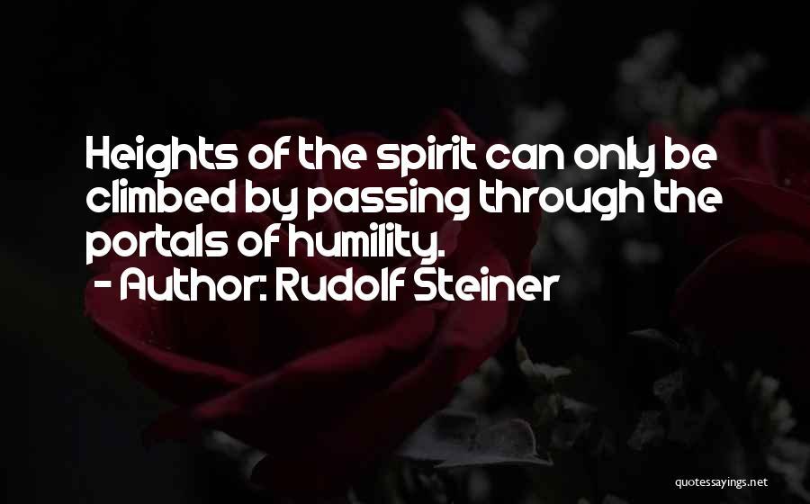 Best Portal 1 Quotes By Rudolf Steiner