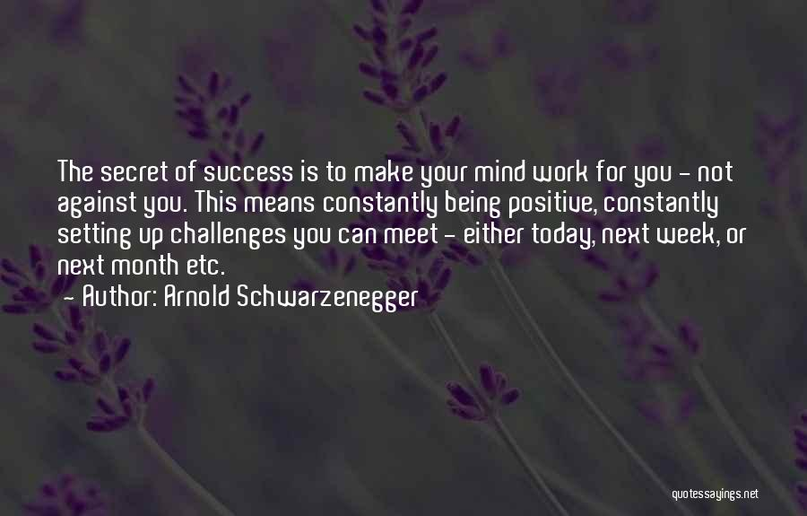 Best Positive Mind Quotes By Arnold Schwarzenegger