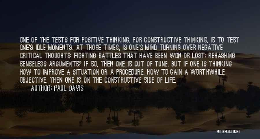 Best Positive Mind Quotes By Paul Davis