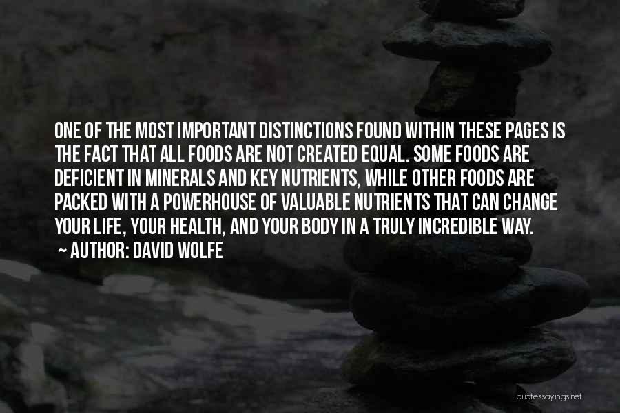 Best Powerhouse Quotes By David Wolfe
