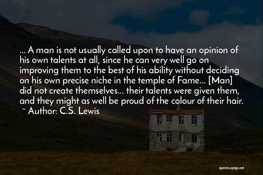 Best Precise Quotes By C.S. Lewis
