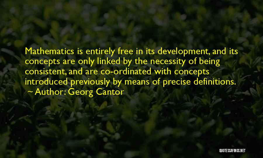 Best Precise Quotes By Georg Cantor