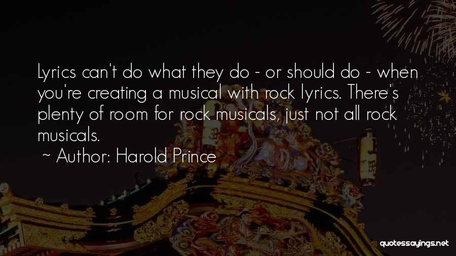 Best Prince Lyrics Quotes By Harold Prince