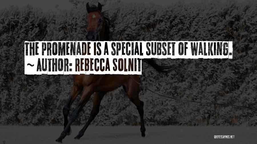 Best Promenade Quotes By Rebecca Solnit